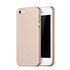 Handyhülle Hülle Kunststoff Schutzhülle Matt Loch für Apple iPhone SE Rosegold