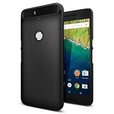 Handyhülle Hülle Kunststoff Schutzhülle Matt M01 für Google Nexus 6P Schwarz