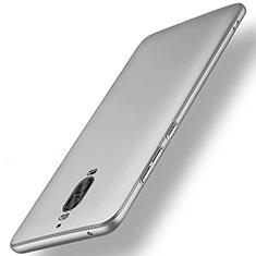 Handyhülle Hülle Kunststoff Schutzhülle Matt M01 für Huawei Mate 9 Pro Silber