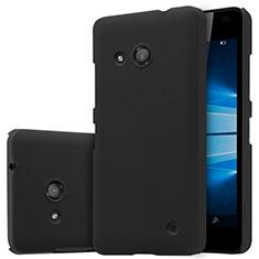 Handyhülle Hülle Kunststoff Schutzhülle Matt M01 für Microsoft Lumia 550 Schwarz