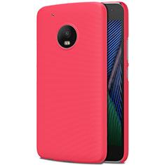 Handyhülle Hülle Kunststoff Schutzhülle Matt M01 für Motorola Moto G5 Plus Rot