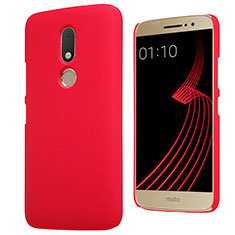 Handyhülle Hülle Kunststoff Schutzhülle Matt M01 für Motorola Moto M XT1662 Rot