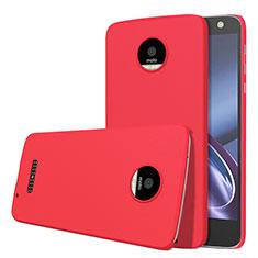 Handyhülle Hülle Kunststoff Schutzhülle Matt M01 für Motorola Moto Z Rot