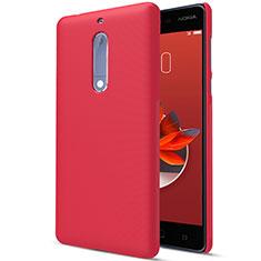 Handyhülle Hülle Kunststoff Schutzhülle Matt M01 für Nokia 5 Rot
