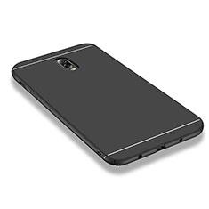 Handyhülle Hülle Kunststoff Schutzhülle Matt M01 für Samsung Galaxy J7 Plus Schwarz