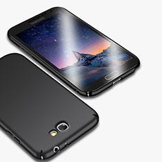 Handyhülle Hülle Kunststoff Schutzhülle Matt M01 für Samsung Galaxy Note 2 N7100 N7105 Schwarz