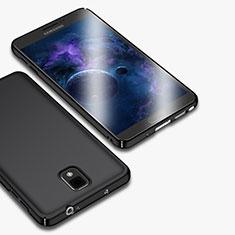 Handyhülle Hülle Kunststoff Schutzhülle Matt M01 für Samsung Galaxy Note 3 N9000 Schwarz