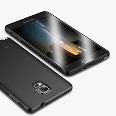 Handyhülle Hülle Kunststoff Schutzhülle Matt M01 für Samsung Galaxy Note 4 Duos N9100 Dual SIM Schwarz