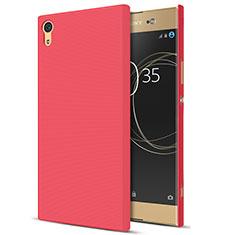Handyhülle Hülle Kunststoff Schutzhülle Matt M01 für Sony Xperia XA1 Ultra Rot