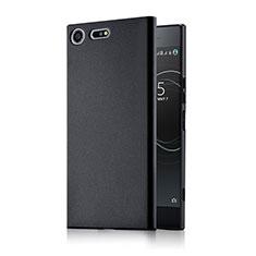 Handyhülle Hülle Kunststoff Schutzhülle Matt M01 für Sony Xperia XZ Premium Schwarz