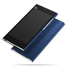 Handyhülle Hülle Kunststoff Schutzhülle Matt M01 für Xiaomi Mi 3 Blau