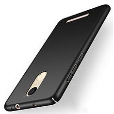 Handyhülle Hülle Kunststoff Schutzhülle Matt M01 für Xiaomi Redmi Note 3 Pro Schwarz
