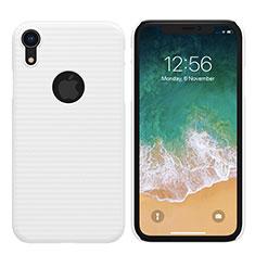 Handyhülle Hülle Kunststoff Schutzhülle Matt M02 für Apple iPhone XR Weiß