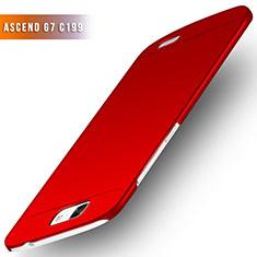 Handyhülle Hülle Kunststoff Schutzhülle Matt M02 für Huawei Ascend G7 Rot