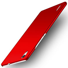 Handyhülle Hülle Kunststoff Schutzhülle Matt M02 für Huawei Ascend P7 Rot