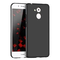 Handyhülle Hülle Kunststoff Schutzhülle Matt M02 für Huawei Enjoy 6S Schwarz
