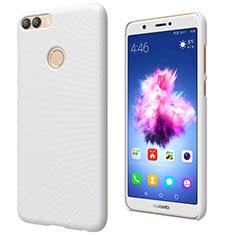 Handyhülle Hülle Kunststoff Schutzhülle Matt M02 für Huawei Enjoy 7S Weiß