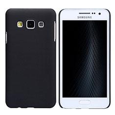 Handyhülle Hülle Kunststoff Schutzhülle Matt M02 für Samsung Galaxy A3 SM-300F Schwarz