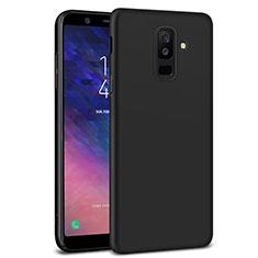 Handyhülle Hülle Kunststoff Schutzhülle Matt M02 für Samsung Galaxy A6 Plus (2018) Schwarz