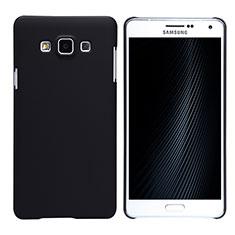 Handyhülle Hülle Kunststoff Schutzhülle Matt M02 für Samsung Galaxy A7 SM-A700 Schwarz