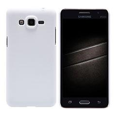 Handyhülle Hülle Kunststoff Schutzhülle Matt M02 für Samsung Galaxy Grand Prime 4G G531F Duos TV Weiß