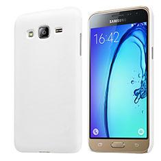 Handyhülle Hülle Kunststoff Schutzhülle Matt M02 für Samsung Galaxy J3 (2016) J320F J3109 Weiß