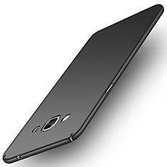 Handyhülle Hülle Kunststoff Schutzhülle Matt M02 für Samsung Galaxy J3 Pro (2016) J3110 Schwarz