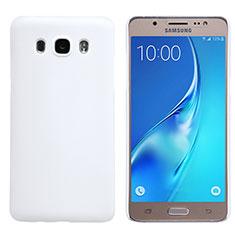 Handyhülle Hülle Kunststoff Schutzhülle Matt M02 für Samsung Galaxy J5 Duos (2016) Weiß