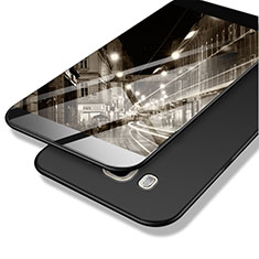 Handyhülle Hülle Kunststoff Schutzhülle Matt M02 für Samsung Galaxy J7 (2016) J710F J710FN Schwarz