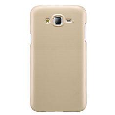 Handyhülle Hülle Kunststoff Schutzhülle Matt M02 für Samsung Galaxy J7 SM-J700F J700H Gold