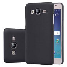 Handyhülle Hülle Kunststoff Schutzhülle Matt M02 für Samsung Galaxy On5 G550FY Schwarz