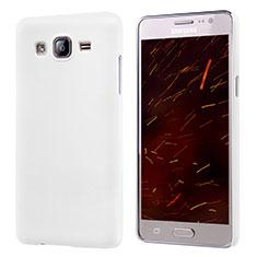 Handyhülle Hülle Kunststoff Schutzhülle Matt M02 für Samsung Galaxy On5 G550FY Weiß