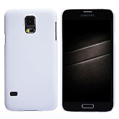 Handyhülle Hülle Kunststoff Schutzhülle Matt M02 für Samsung Galaxy S5 G900F G903F Weiß