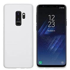 Handyhülle Hülle Kunststoff Schutzhülle Matt M02 für Samsung Galaxy S9 Plus Weiß
