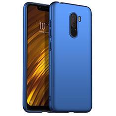 Handyhülle Hülle Kunststoff Schutzhülle Matt M02 für Xiaomi Pocophone F1 Blau