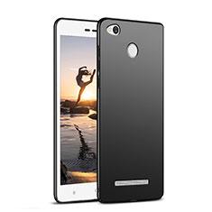 Handyhülle Hülle Kunststoff Schutzhülle Matt M02 für Xiaomi Redmi 3 Pro Schwarz
