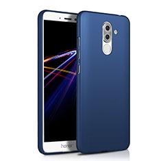 Handyhülle Hülle Kunststoff Schutzhülle Matt M03 für Huawei Honor 6X Blau