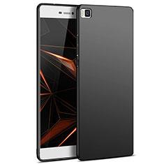 Handyhülle Hülle Kunststoff Schutzhülle Matt M03 für Huawei P8 Schwarz