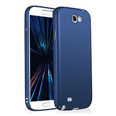 Handyhülle Hülle Kunststoff Schutzhülle Matt M03 für Samsung Galaxy Note 2 N7100 N7105 Blau