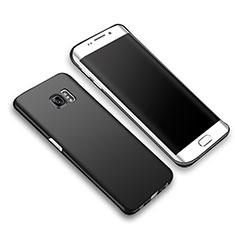 Handyhülle Hülle Kunststoff Schutzhülle Matt M03 für Samsung Galaxy S6 Edge+ Plus SM-G928F Schwarz