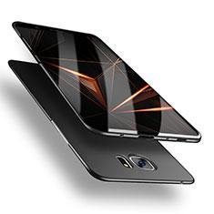 Handyhülle Hülle Kunststoff Schutzhülle Matt M03 für Samsung Galaxy S7 Edge G935F Schwarz