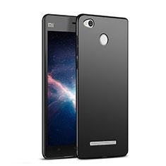 Handyhülle Hülle Kunststoff Schutzhülle Matt M03 für Xiaomi Redmi 3 Pro Schwarz