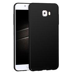 Handyhülle Hülle Kunststoff Schutzhülle Matt M04 für Samsung Galaxy C7 Pro C7010 Schwarz