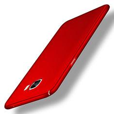 Handyhülle Hülle Kunststoff Schutzhülle Matt M04 für Samsung Galaxy C7 SM-C7000 Rot