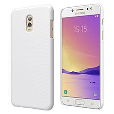 Handyhülle Hülle Kunststoff Schutzhülle Matt M04 für Samsung Galaxy J7 Plus Weiß