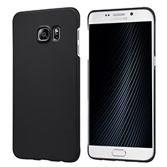 Handyhülle Hülle Kunststoff Schutzhülle Matt M04 für Samsung Galaxy S6 Edge+ Plus SM-G928F Schwarz