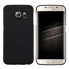 Handyhülle Hülle Kunststoff Schutzhülle Matt M04 für Samsung Galaxy S6 Edge SM-G925 Schwarz