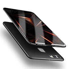 Handyhülle Hülle Kunststoff Schutzhülle Matt M05 für Huawei P9 Schwarz