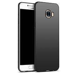 Handyhülle Hülle Kunststoff Schutzhülle Matt M05 für Samsung Galaxy C7 SM-C7000 Schwarz