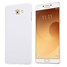 Handyhülle Hülle Kunststoff Schutzhülle Matt M05 für Samsung Galaxy C9 Pro C9000 Weiß